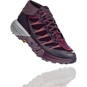 Hoka One One Speedgoat WP Mid Running Shoes Women, obsidian/italian plum